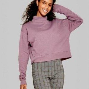 Wild Fable Mock Neck Cropped Pullover